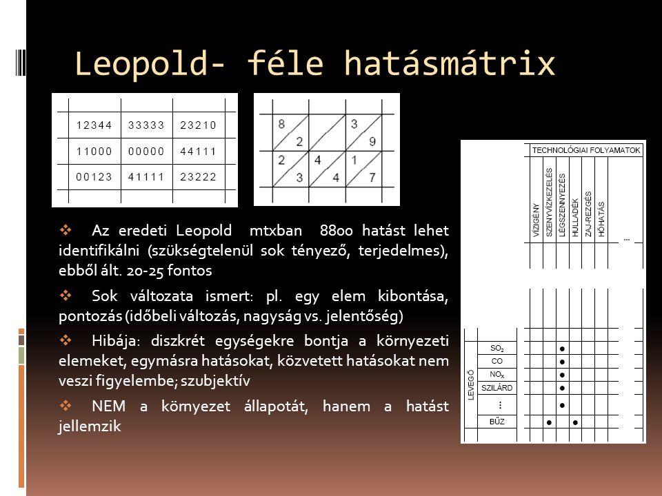  Az eredeti Leopold mtxban 8800 hatást lehet identifikálni (szükségtelenül sok tényező, terjedelmes), ebből ált.