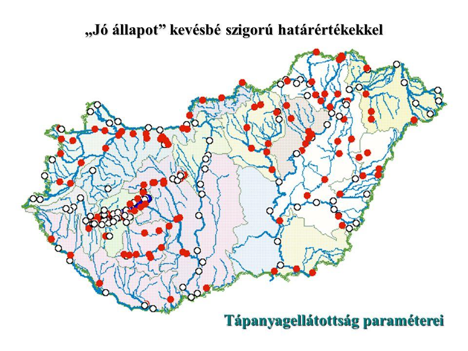 """Tápanyagellátottság paraméterei """"Jó állapot"""" az MSZ 12749 határértékei szerint"""