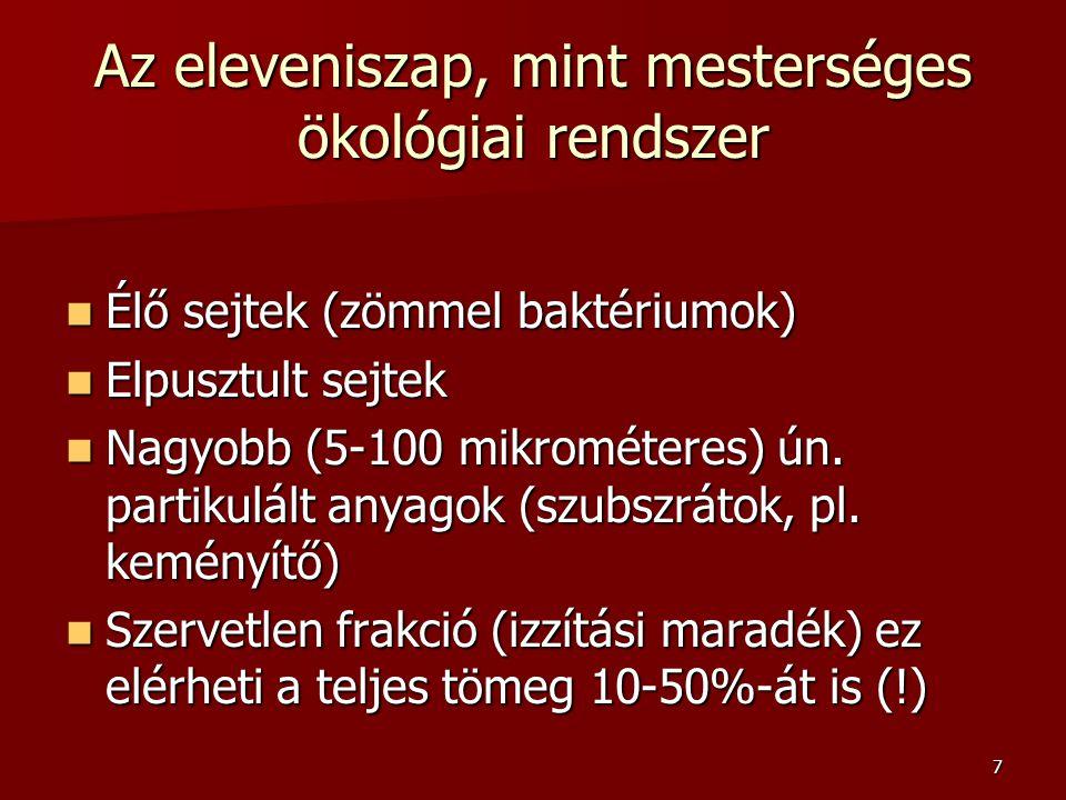 28 A fonalak mikroszkópos meghatározása Alak (görbült, egyenes, elágazó) Alak (görbült, egyenes, elágazó) Méret (sejtek és teljes fonal hossz, vastagság) Méret (sejtek és teljes fonal hossz, vastagság) Gram és Neisser festési tulajdonságok Gram és Neisser festési tulajdonságok Felülethez kapcsolt növekedés (üvegmosó kefe) Felülethez kapcsolt növekedés (üvegmosó kefe) Kapszula – nyálka burok (van -nincs) Kapszula – nyálka burok (van -nincs) Kénpróba (szulfid redukció elemi kénné) – Beggiatoa, Thiotrix, 0914 típus Kénpróba (szulfid redukció elemi kénné) – Beggiatoa, Thiotrix, 0914 típus