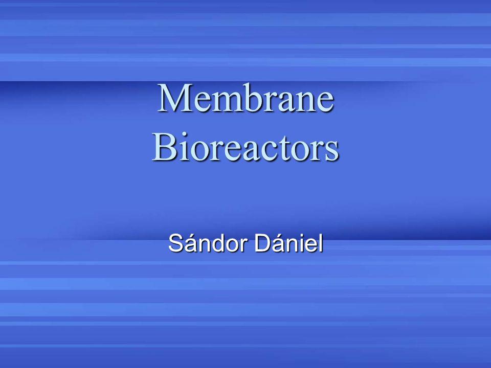 Membrane Bioreactors Sándor Dániel