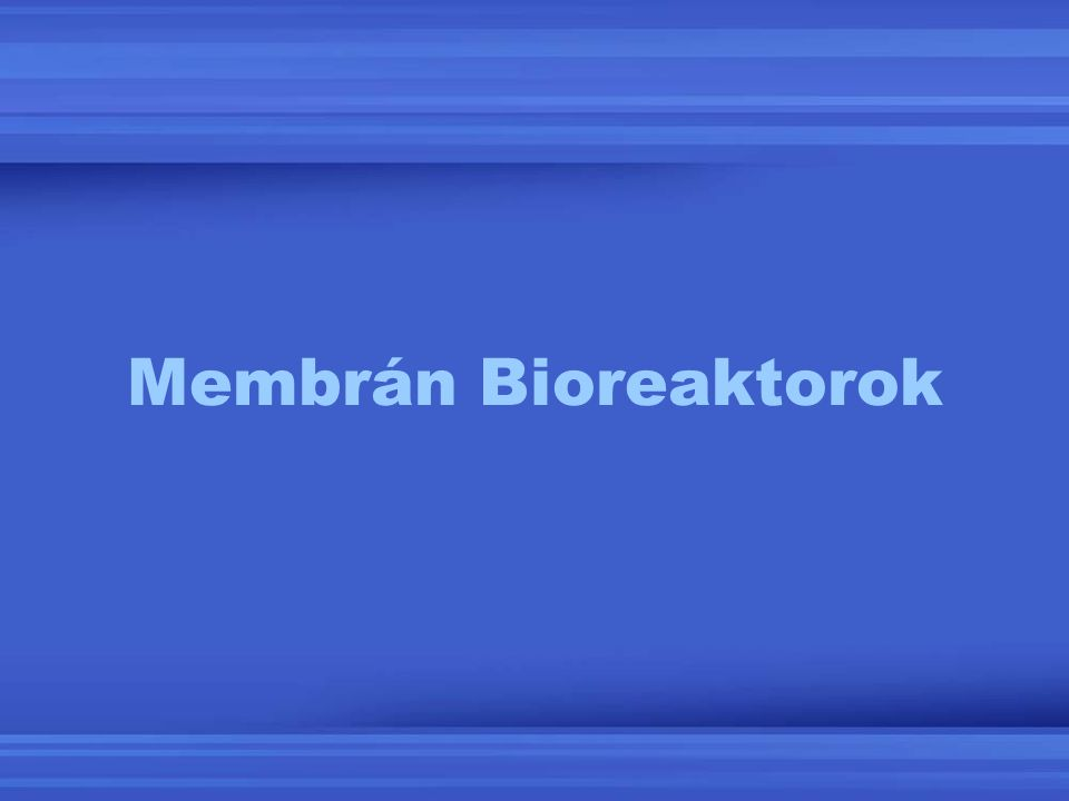 Membrán Bioreaktorok