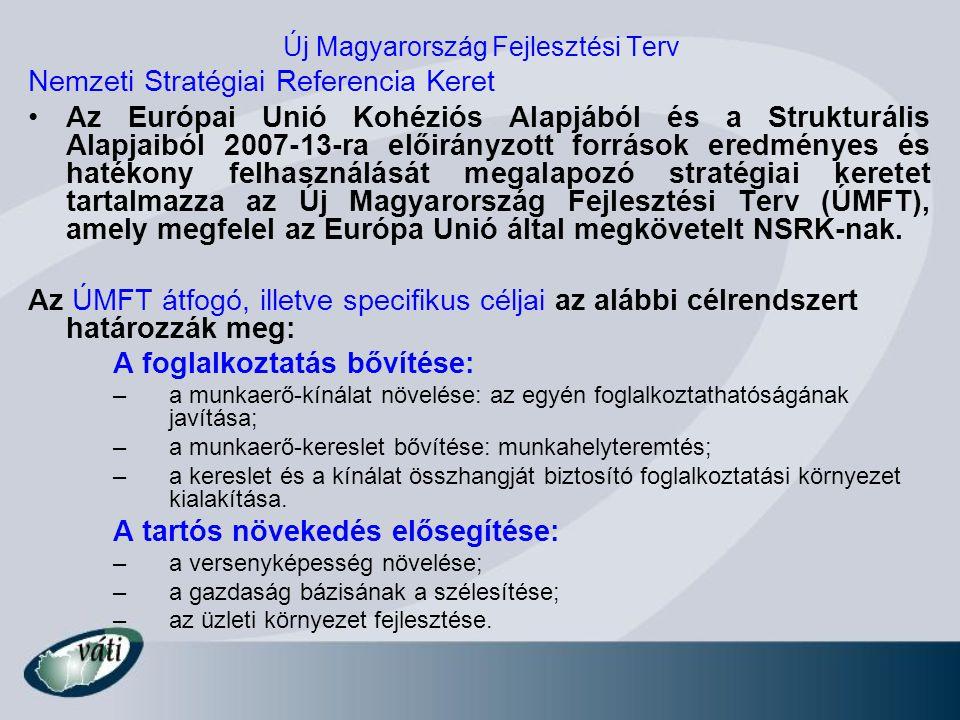 Új Magyarország Fejlesztési Terv Nemzeti Stratégiai Referencia Keret Az Európai Unió Kohéziós Alapjából és a Strukturális Alapjaiból 2007-13-ra előirá