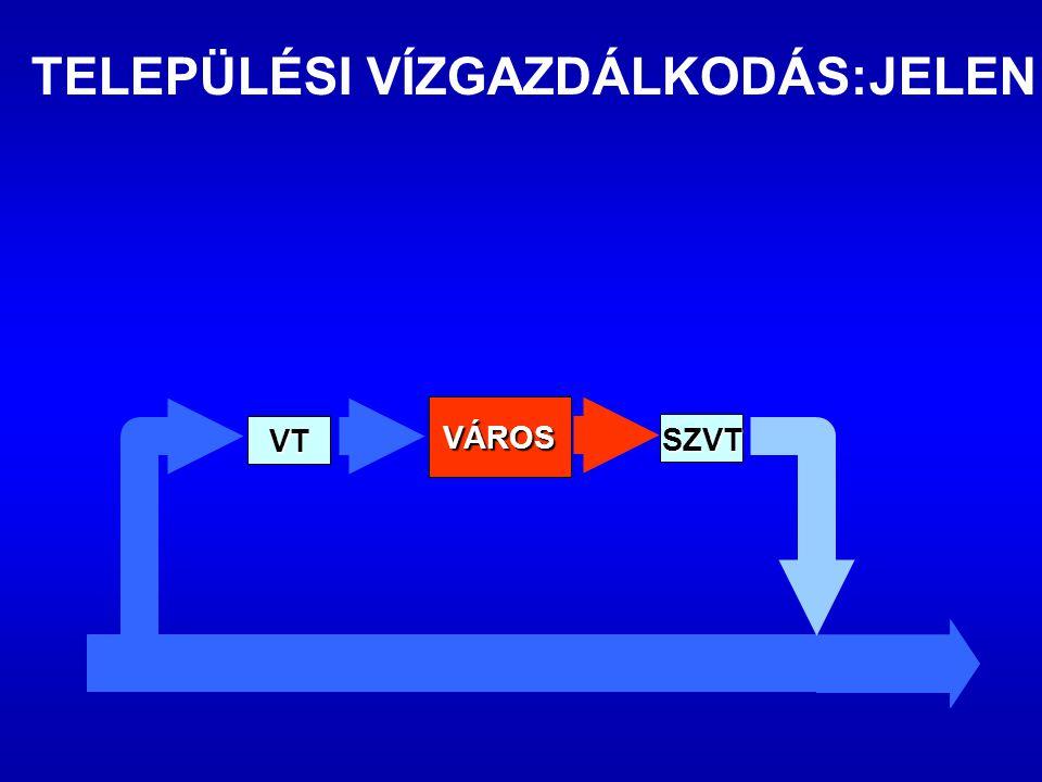 SZVT VÁROS VT TELEPÜLÉSI VÍZGAZDÁLKODÁS:JELEN