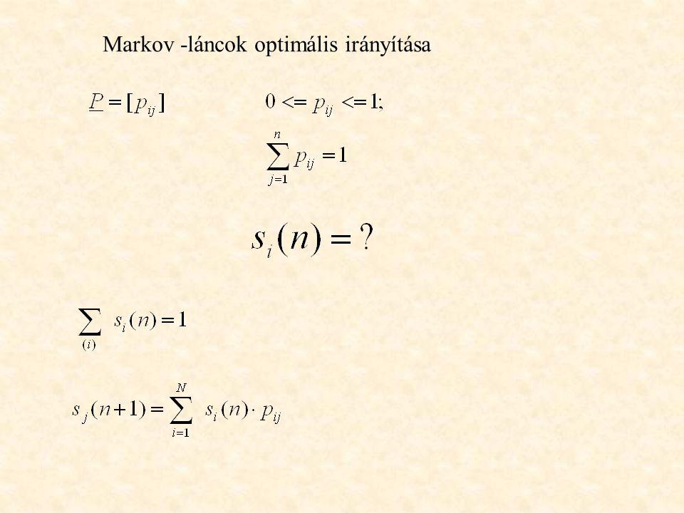 Markov -láncok optimális irányítása