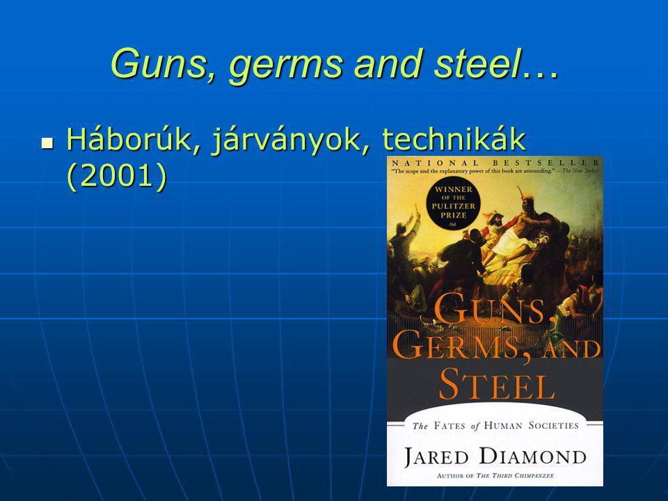 Guns, germs and steel… Háborúk, járványok, technikák (2001) Háborúk, járványok, technikák (2001)