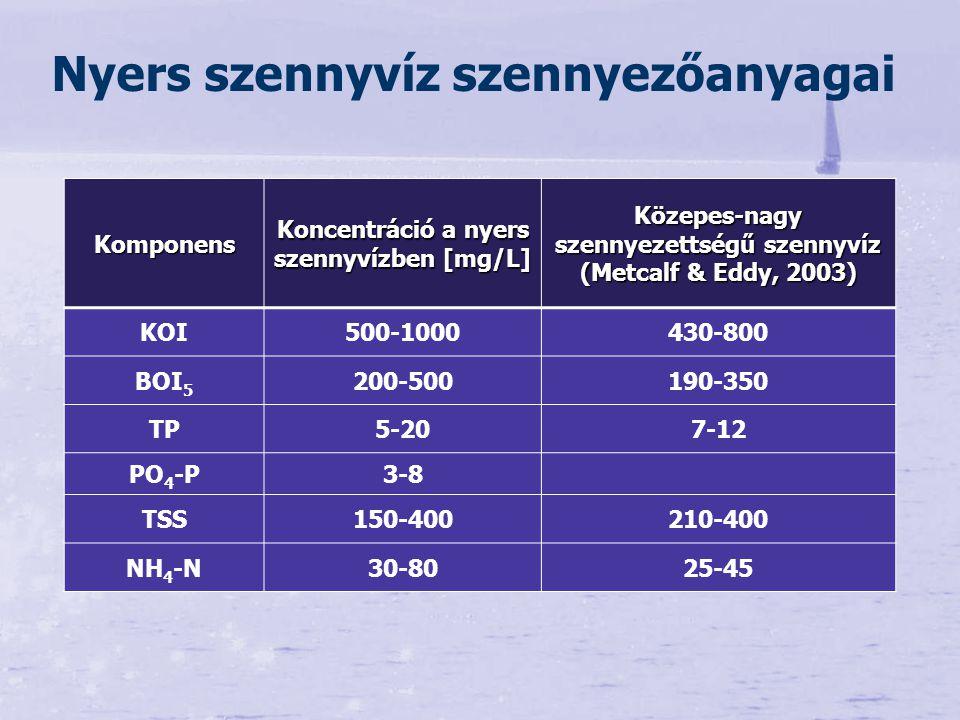 Cél: P eltávolítás (befogadók eutrofizáció elleni védelme) Biológiai tisztítási fokozat terhelésének csökkentése (lebegőanyagok és szervesanyagok eltávolítása, nitrifikáció hatékonyságának növelése) Hatások Foszfor, szilárd állapotú, nehezen bontható szervesanyag csökkentése Nitrifikációra pozitív hatás Potenciális hátrányok: pH, iszapmennyiség, C:N:P arány megváltozása – denitrifikációs problémák Előkicsapás