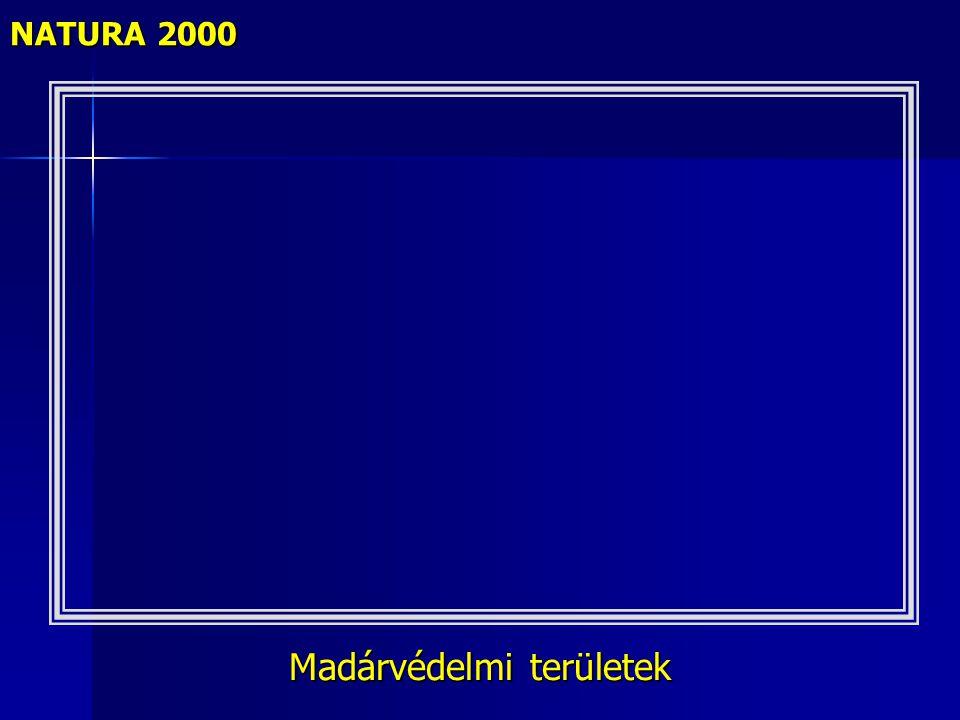 Madárvédelmi területek NATURA 2000