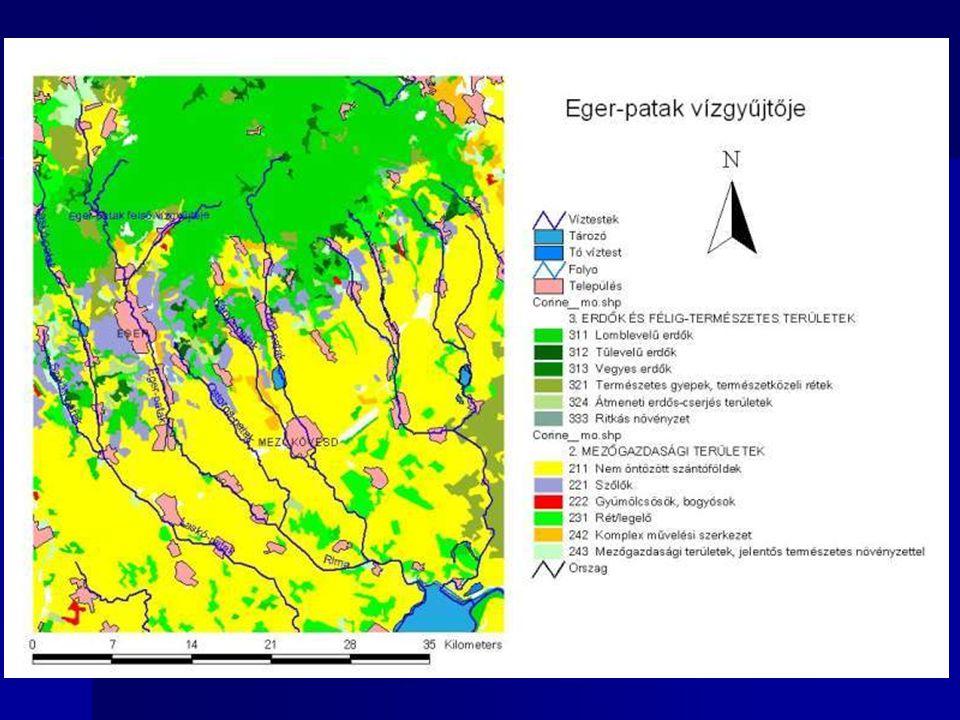Háromkategóriás földhasználati zónarendszer (SZIE Környezet- és Tájgazdálkodási Intézet) Agráralkalmasság és környezetérzékenység alapján az ország mezőgazdasági (szántó) területeit intenzív, extenzív és védelmi zónába sorolták.