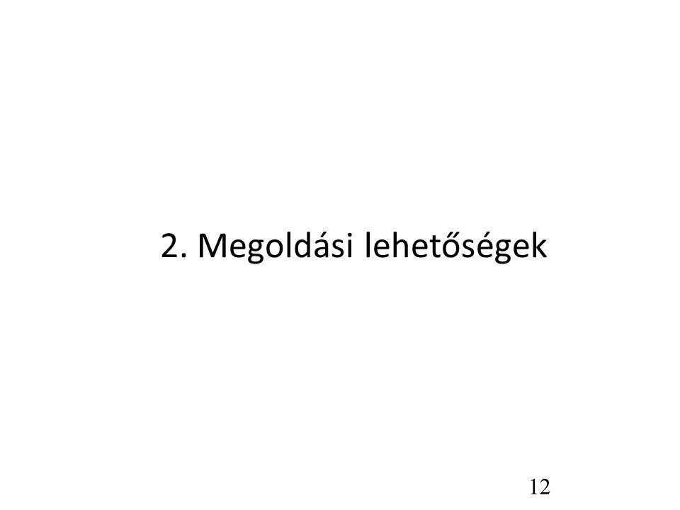 2. Megoldási lehetőségek 12