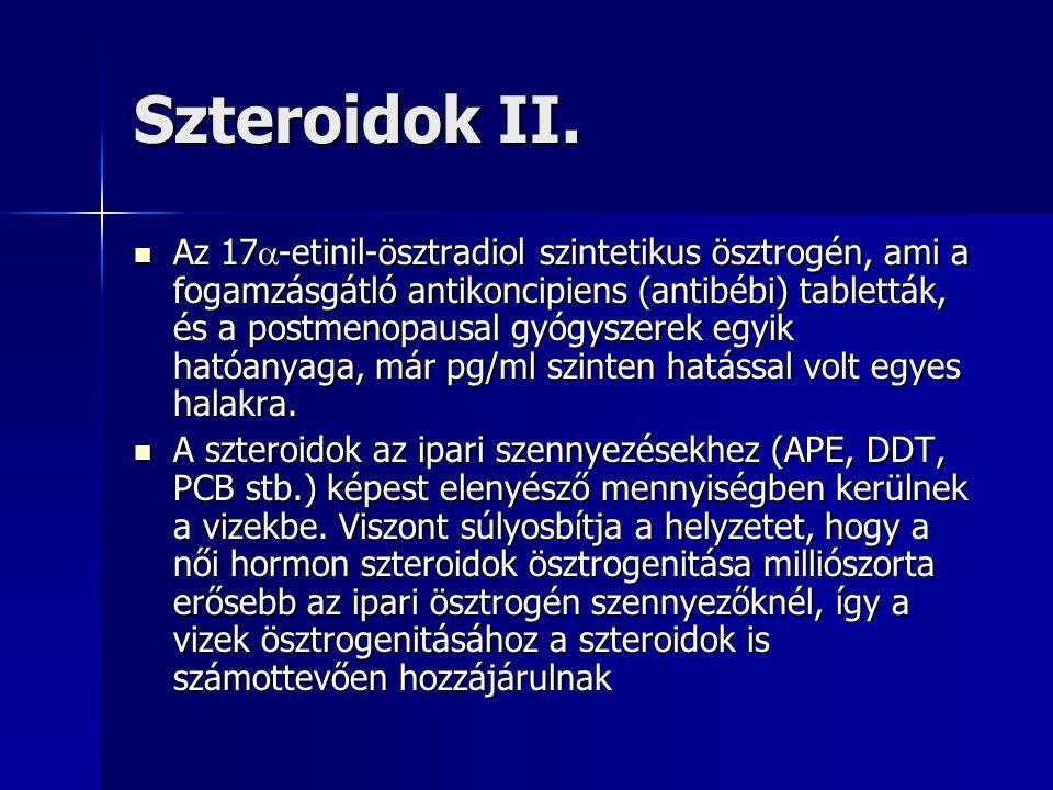 Szteroidok II. Az 17  -etinil-ösztradiol szintetikus ösztrogén, ami a fogamzásgátló antikoncipiens (antibébi) tabletták, és a postmenopausal gyógysze