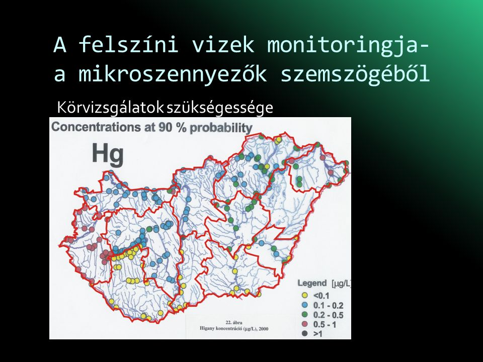 A felszíni vizek monitoringja- a mikroszennyezők szemszögéből Körvizsgálatok szükségessége
