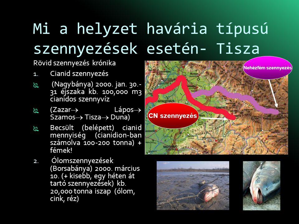 Mi a helyzet havária típusú szennyezések esetén- Tisza Rövid szennyezés krónika 1.