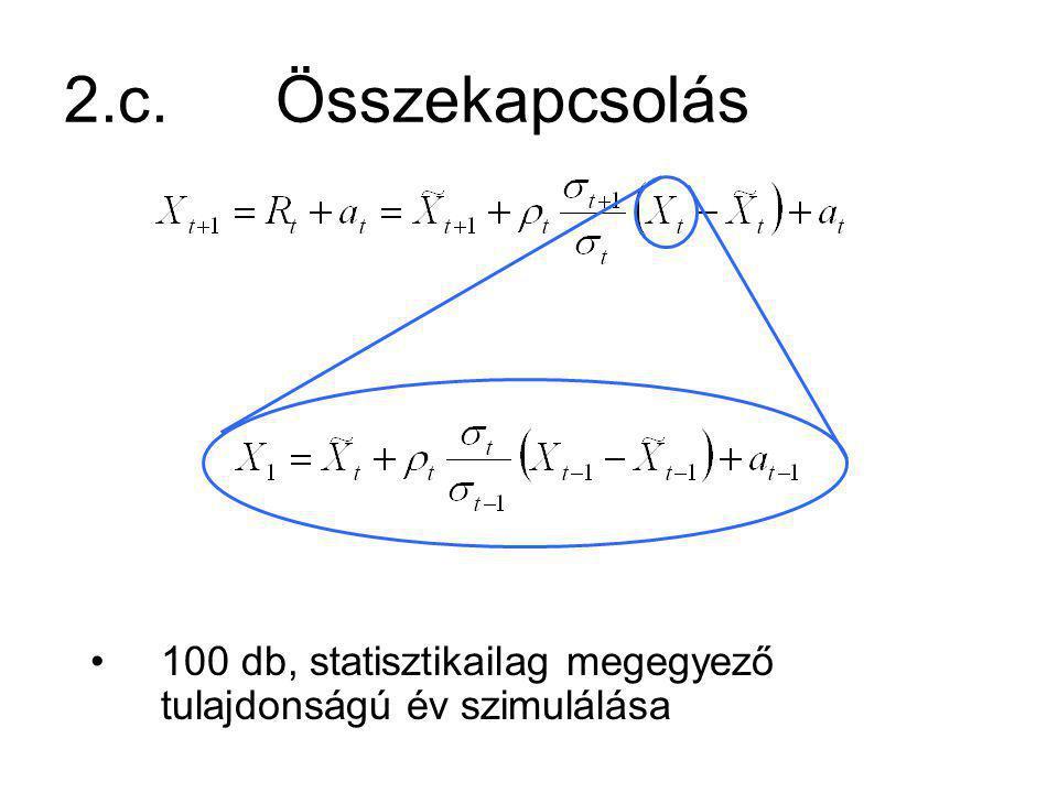 2.c.Összekapcsolás 100 db, statisztikailag megegyező tulajdonságú év szimulálása