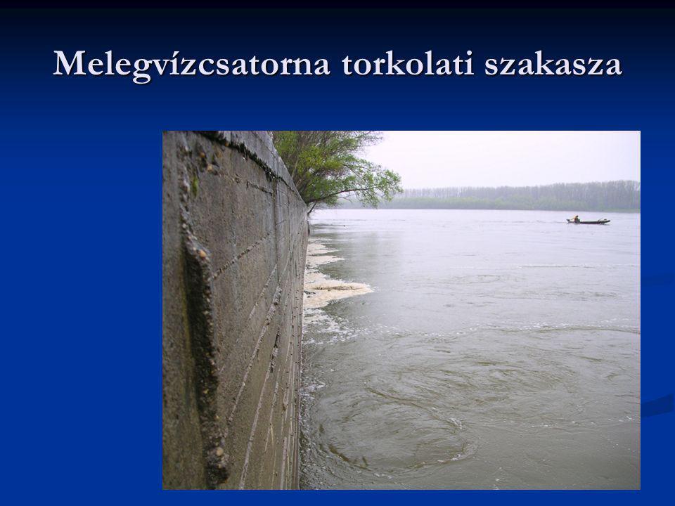 Melegvízcsatorna torkolati szakasza