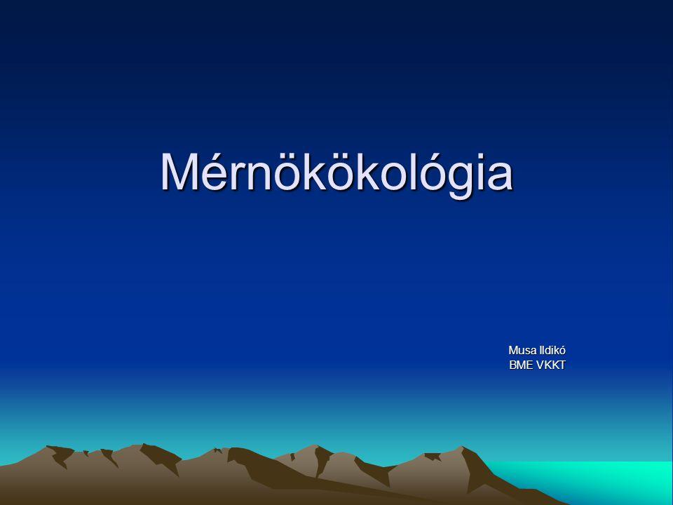 Mérnökökológia Musa Ildikó BME VKKT