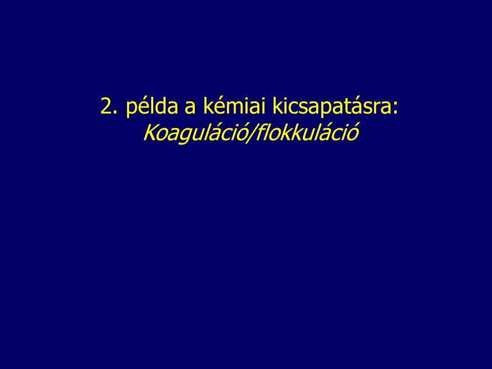 2. példa a kémiai kicsapatásra: Koaguláció/flokkuláció