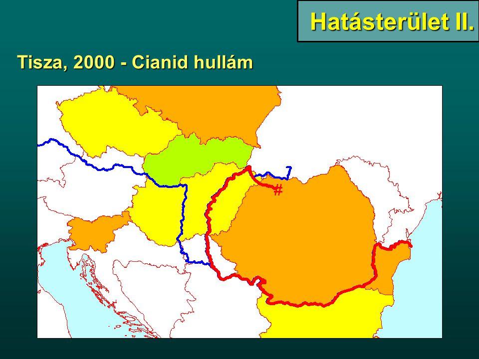 Tisza, 2000 - Cianid hullám Hatásterület II.