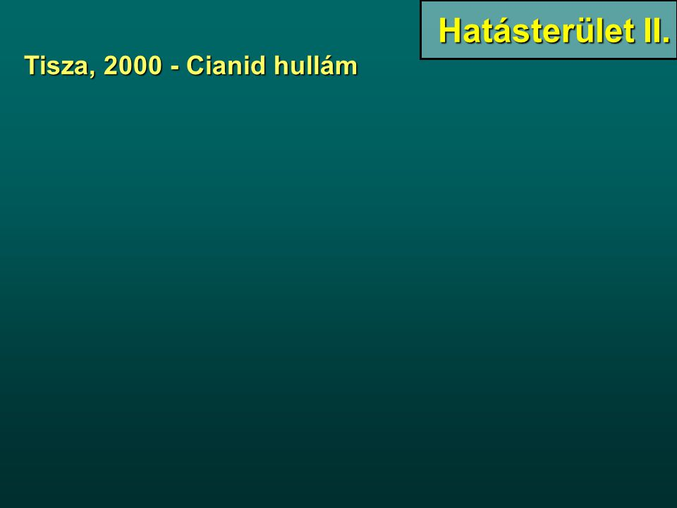 Tisza, 2000 - Cianid hullám