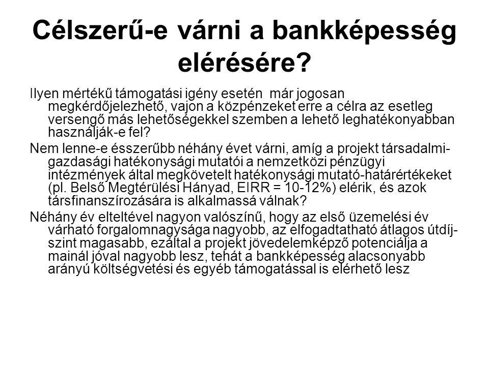Célszerű-e várni a bankképesség elérésére? Ilyen mértékű támogatási igény esetén már jogosan megkérdőjelezhető, vajon a közpénzeket erre a célra az es
