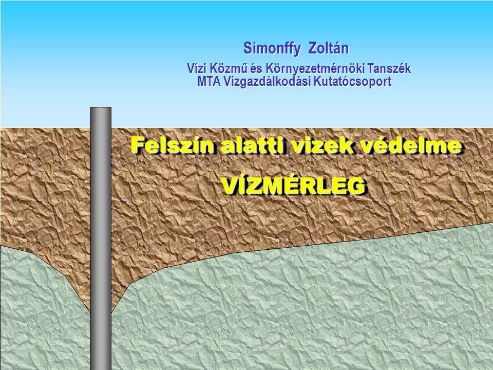 Felszín alatti vizek védelme Felszín alatti vizek védelme VÍZMÉRLEG VÍZMÉRLEG Felszín alatti vizek védelme Felszín alatti vizek védelme VÍZMÉRLEG VÍZM