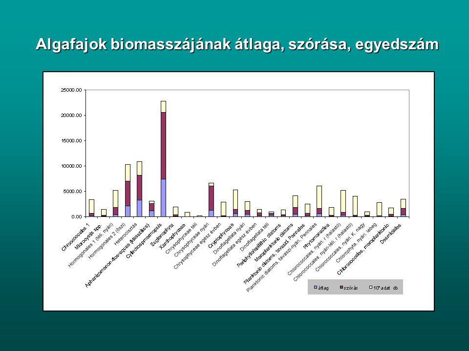 Egy másik példa A Balaton fitoplankton-dinamikájának előrejelzése az időjárási tényezők és az időjárási tényezők és a tápanyagterhelés a tápanyagterhe