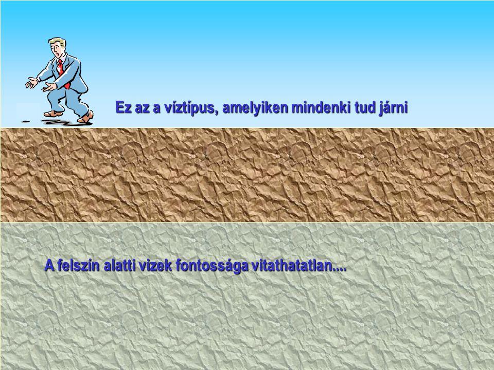 A felszín alatti vizek fontossága vitathatatlan.... Ez az a víztípus, amelyiken mindenki tud járni