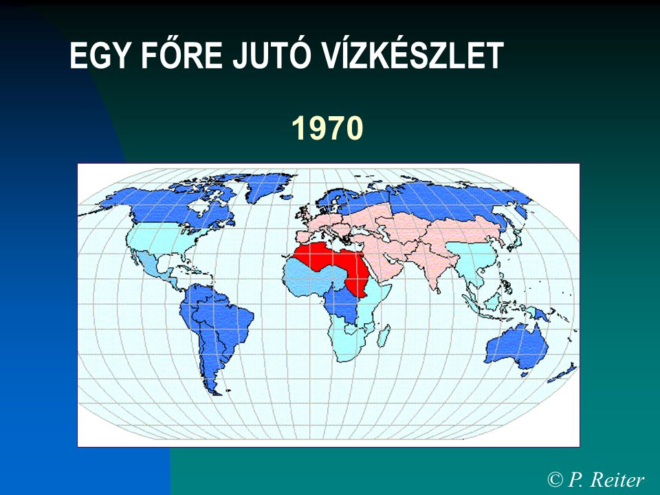 1970 © P. Reiter EGY FŐRE JUTÓ VÍZKÉSZLET