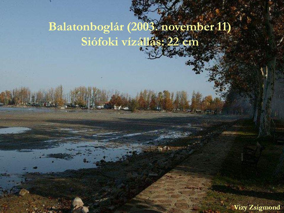 Balatonboglár (2003. november 11) Siófoki vízállás: 22 cm Vizy Zsigmond