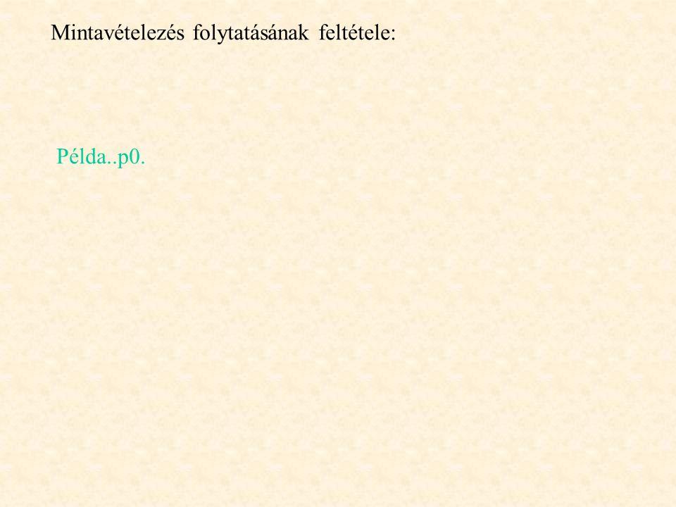 Mintavételezés folytatásának feltétele: Példa..p0.