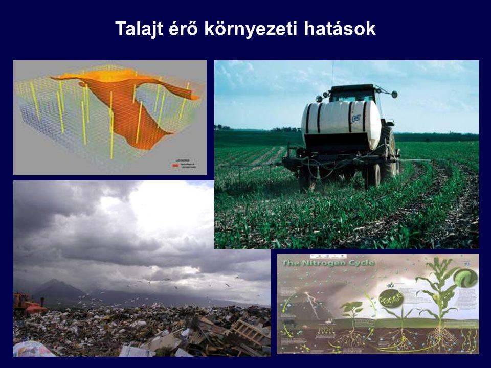 """Szennyezőanyagok túlnyomó része a finomabb szemcsefrakciókhoz kötődik (nagy fajlagos felület) Az erózió szelektív a finom szemcsékre nézve, a finomabb részecskékfeldúsulnak a lebegőanyag transzport során Dúsulás: a transzportált lebegőanyagban nagyobb szennyezőanyagkoncentráció alakul ki, mint az eredeti talajban Kiváltó folyamatok: A """"szennyezettebb finom szemcsék szelektív eróziója A kis sűrűségű komponensek (szerves anyagok) felúszása a talajról a felszíni lefolyásba A nehéz, durva szemcsék (kevesebb adszorbeált szennyező) kiülepedése a transzport során Feldúsulási arány: a felszíni vagy a mederbeli lefolyás által szállított lebegőanyagban és az eredeti talajban lévő szennyezőanyag koncentrációk hányadosa Partikulált szennyezők feldúsulása"""