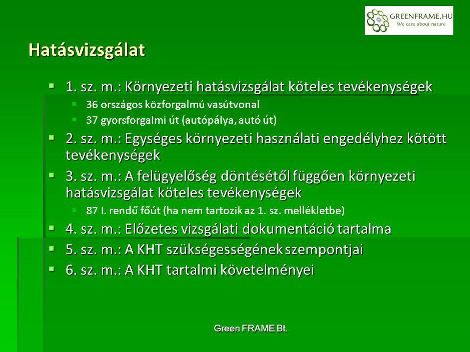 Green FRAME Bt. Hatásvizsgálat  1. sz.