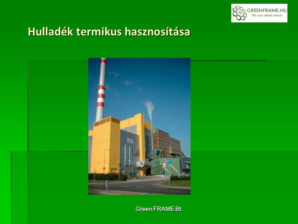 Green FRAME Bt. Hulladék termikus hasznosítása