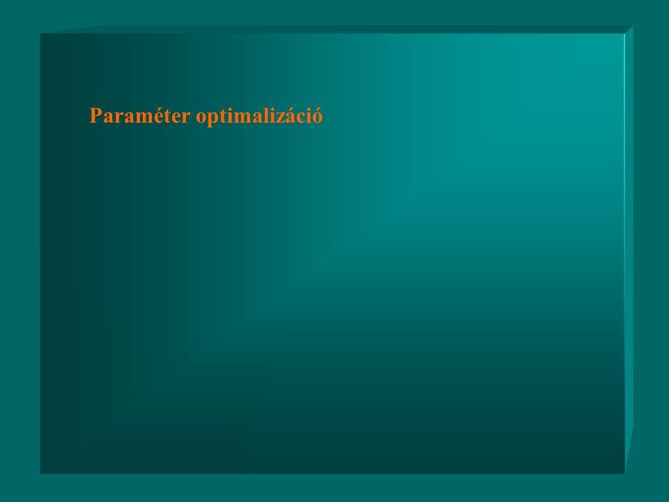  R(C, P) - REAKCIÓ TAG (félempírikus) P - PARAMÉTER VEKTOR P - PARAMÉTER VEKTOR IDENTIFIKÁCIÓ SZÜKSÉGES IDENTIFIKÁCIÓ SZÜKSÉGES HIPOTÉZISEK HIPOTÉZIS