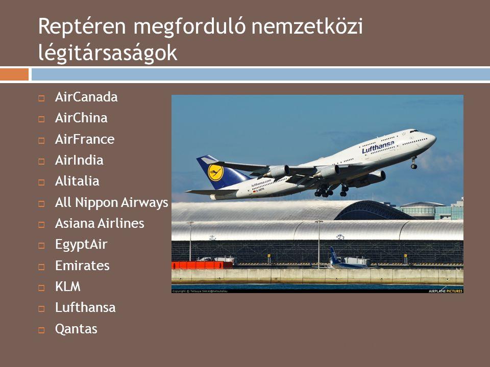 Reptéren megforduló nemzetközi légitársaságok 2014.04.15.  AirCanada  AirChina  AirFrance  AirIndia  Alitalia  All Nippon Airways  Asiana Airli