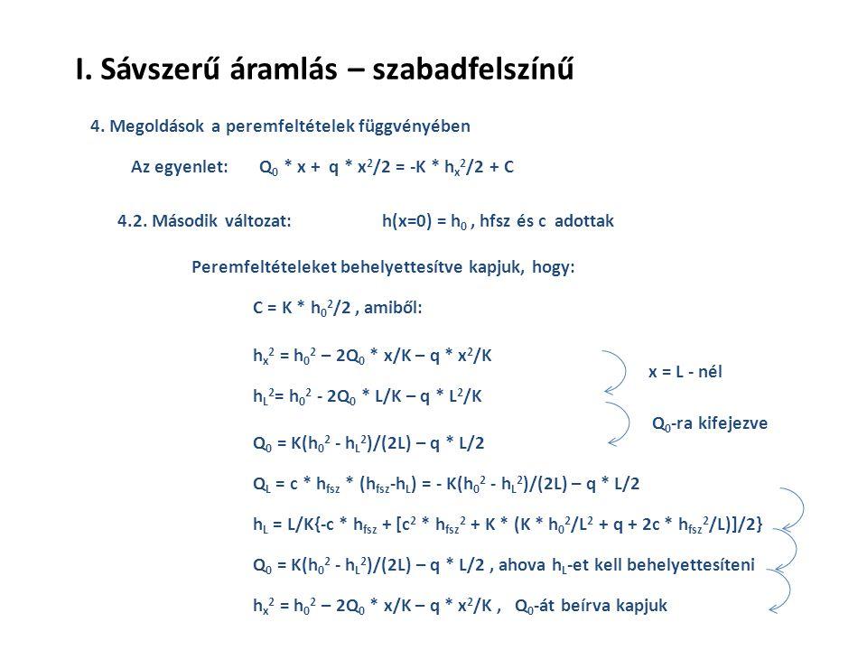 4. Megoldások a peremfeltételek függvényében 4.2.