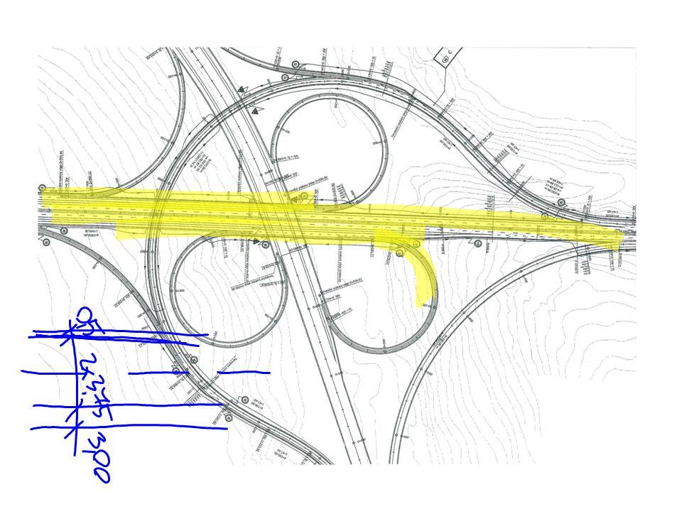 Terelővonal kiosztása: -folyópályán: 6/12m, szélessége: 0,15m -csomóponti ágon (két sávos csomóponti ágakon): 4/8m, szélessége: 0,15m -különleges sávok elválasztása (gyorsító-, lassító sávok mellett): 3/3m, szélessége: 0,15m