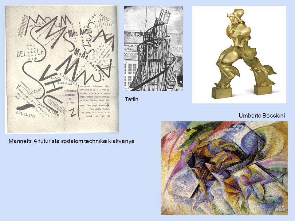 Marinetti: A futurista irodalom technikai kiáltványa Umberto Boccioni Tatlin