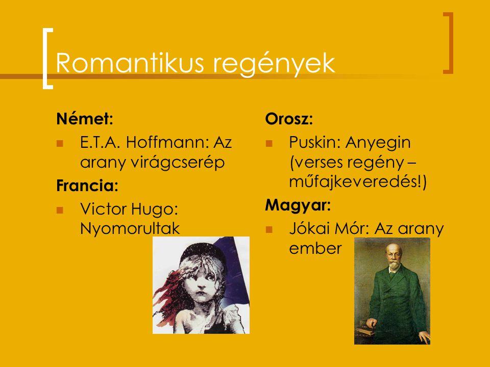"""Romantika a költészetben A modern költészet alapjait """"rakja le"""". Német romantika: Novalis, Heine Angol romantika: Byron, Shelley, Keats, E.A. Poe """"A S"""