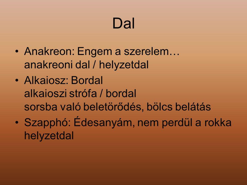 Feladat Keressetek példákat a magyar irodalomból az antik görög líra műfajainak továbbélésére!