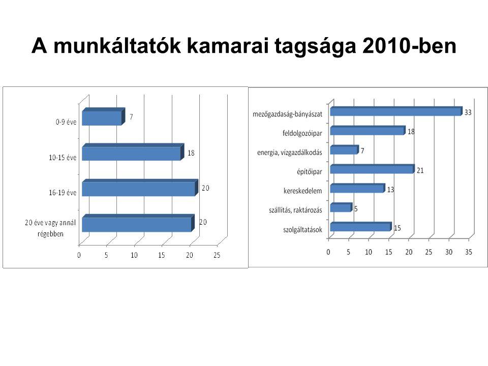 A munkáltatók kamarai tagsága 2010-ben