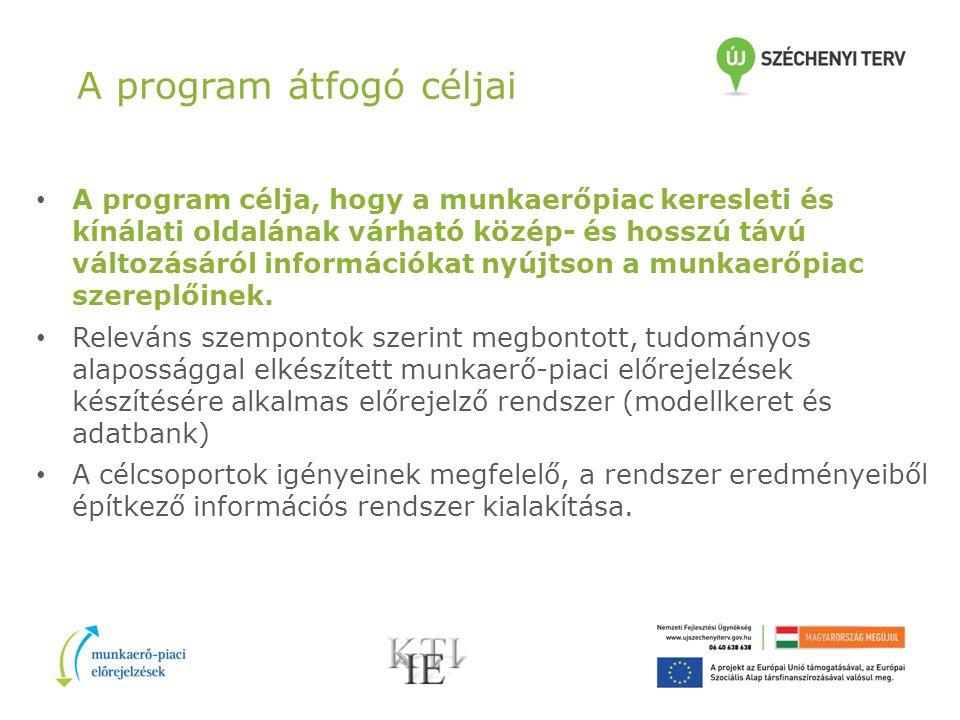 A program megvalósítása A program a mindenkori fejlesztési tervek, a TÁMOP program keretében, az ESZA 85%-os társfinanszírozásával zajlik 2010 áprilisa és 2013 februárja között.