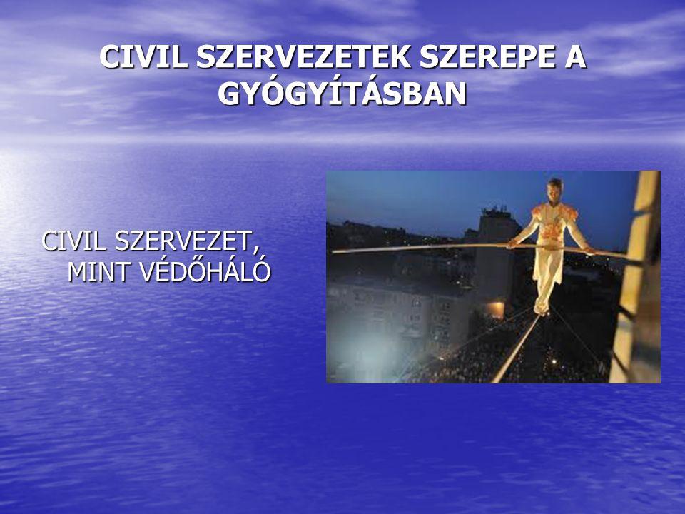 CIVIL SZERVEZETEK SZEREPE A GYÓGYÍTÁSBAN CIVIL SZERVEZET, MINT VÉDŐHÁLÓ