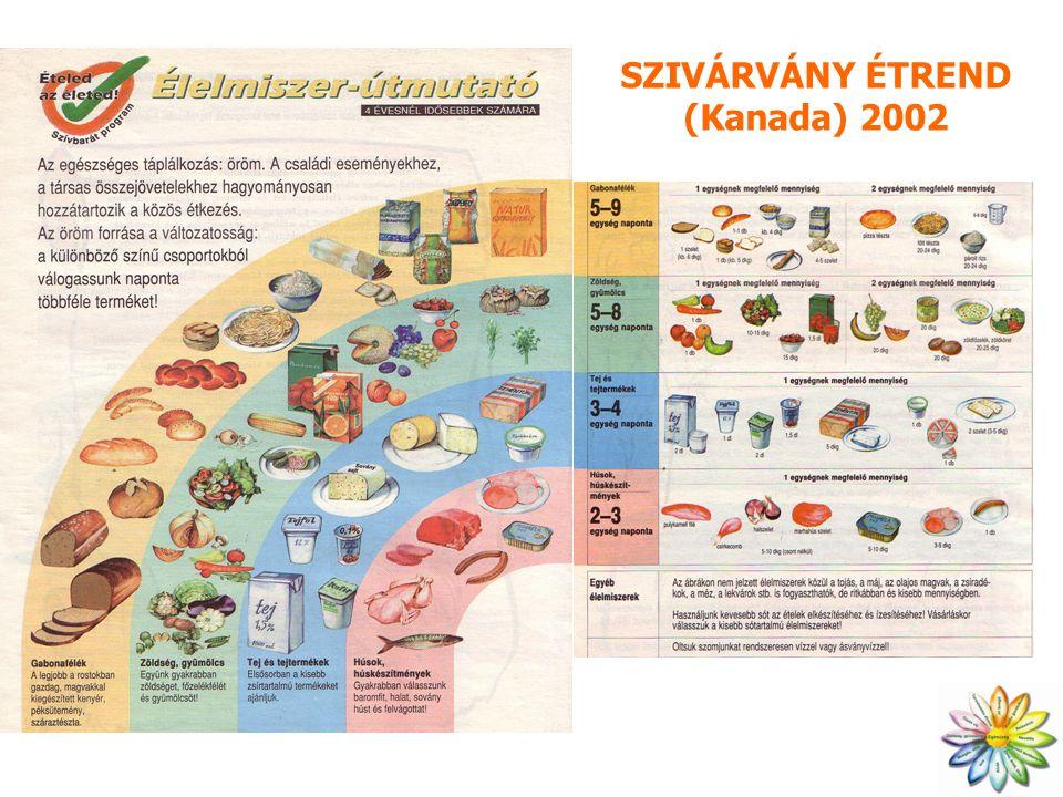 SZIVÁRVÁNY ÉTREND (Kanada) 2002