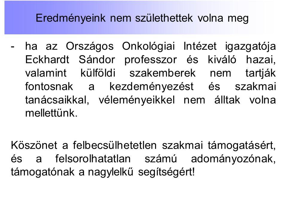 -ha az Országos Onkológiai Intézet igazgatója Eckhardt Sándor professzor és kiváló hazai, valamint külföldi szakemberek nem tartják fontosnak a kezdem