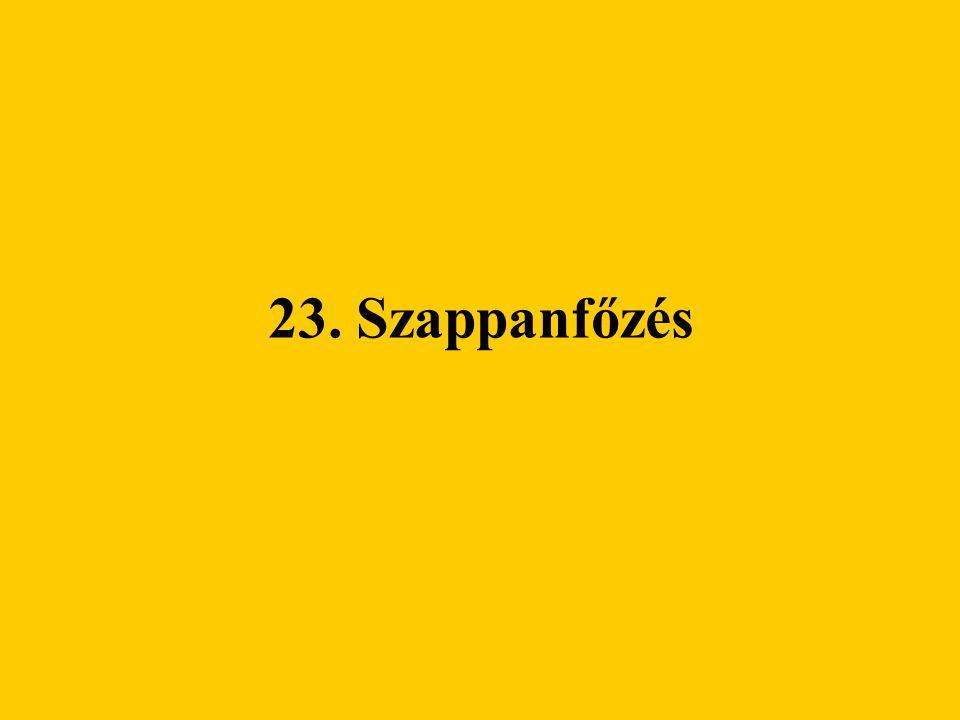 23. Szappanfőzés