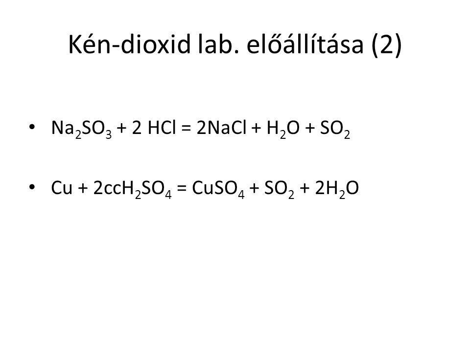 Kén-dioxid lab.
