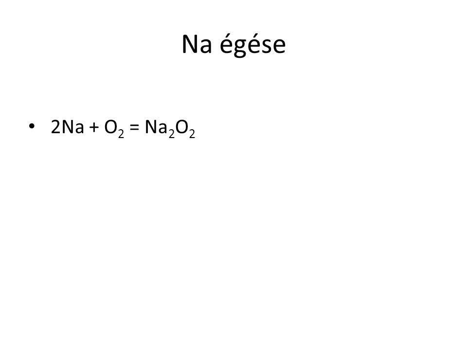 Na égése 2Na + O 2 = Na 2 O 2
