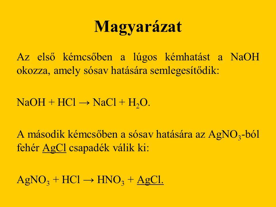 Magyarázat A Na 2 CO 3 lúgos oldatából sósav hatására H 2 CO 3 képződik, ami instabil vegyület, ezért H 2 O-ra és CO 2 -re bomlik, de a CO 2 eltávozik az oldatból: Na 2 CO 3 + 2 HCl → 2 NaCl + H 2 CO 3 H 2 CO 3 → H 2 O + CO 2.