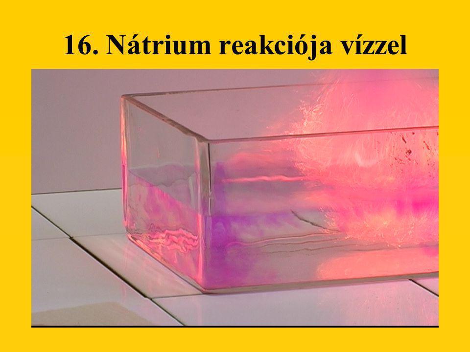 16. Nátrium reakciója vízzel