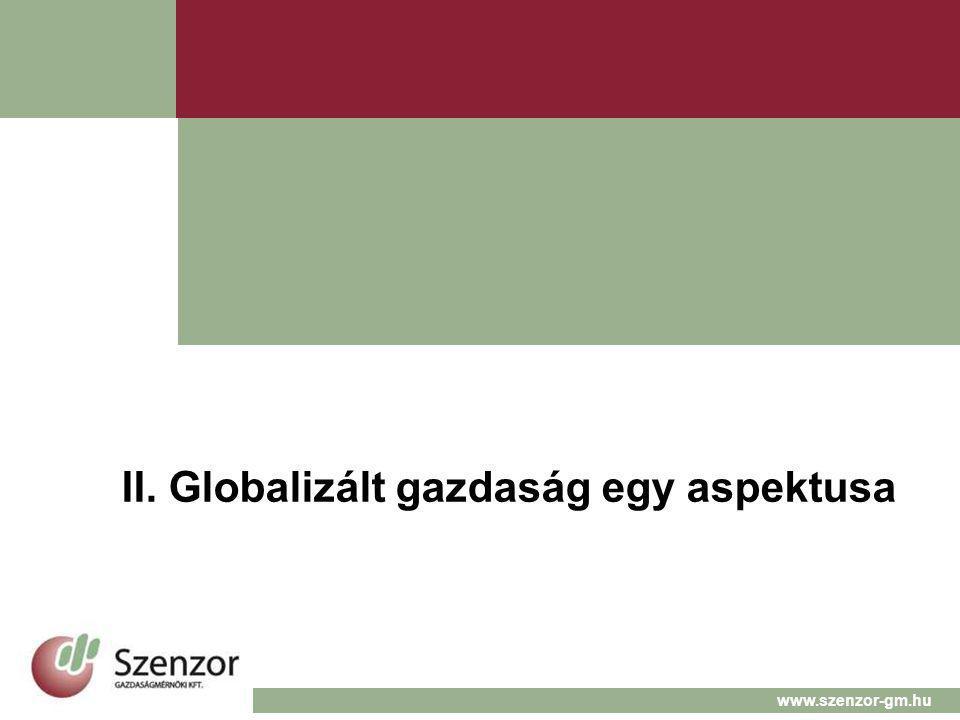 II. Globalizált gazdaság egy aspektusa www.szenzor-gm.hu
